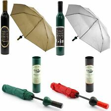 Wine Gin Prosecco Bottle Compact Umbrella Travel Hand Bag Size Folding 100cm