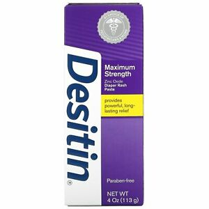 Desitin, Diaper Rash Paste, Maximum Strength, 4 oz (113 g) Cream for Nappy Rash
