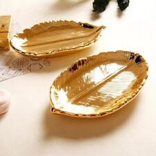 Fine trendy Jewelry plate storage tray ceramic key plate electroplating gol Q4O3