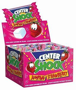 (1,00€/100g) Center Shock Erdbeere 100x4g - Saurer Kaugummi mit Füllung