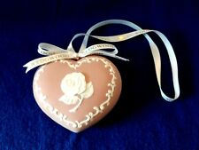 Wedgwood Christmas Ornament Pink Heart Breast Cancer Awareness Ribbon