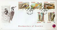 Namibia Birds on Stamps 2020 FDC Woodpeckers Cardinal Woodpecker 5v Set