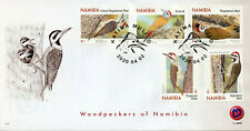 More details for namibia birds on stamps 2020 fdc woodpeckers cardinal woodpecker 5v set