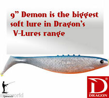 DRAGON DEMON soft lure  9''  Large  Lure for pike  VARIETY OF COLOURS  22,5 cm.