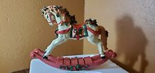 "Vintage Decorative Holiday Rocking Horse 16"" x 12"""