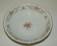 "Vintage Style House Fine China Rose Baroque 9"" Round Vegetable Serving Bowl"