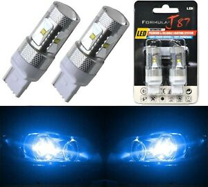 LED Light 30W 7440 Blue 10000K Two Bulbs Rear Turn Signal Replace Lamp Fit