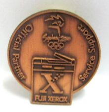 BRONZE FUJI XEROX ROUND LOGO SYDNEY OLYMPIC GAMES 2000 PIN BADGE COLLECT #400