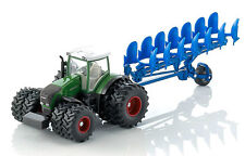 1955 FARMER SIKU Fendt 936 Vario Dual Wheeled Tractor Plough 1:50 Diecast Model