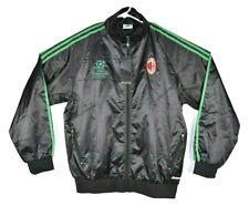 AC Milan Soccer Top Italy Adidas Windbreaker Jacket UEFA Champions League Sz XL