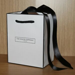 The White Company, Small Gift Bag, Jewellery Ring Cosmetics Perfume Ribbon, NEW