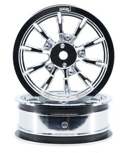 "Drag Race Concepts AXIS Chrome 2.2"" Front Wheels"