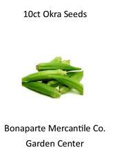 10+ count okra seeds Organic Produce Non-GMO heirloom