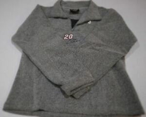Tony Stewart  #20 Home Depot Ladies Gray Quarter Zip Fleece-C20860281-Small