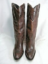 Justin Womens Cowboy Boots w/ Heels  Size 8 B Brown Leather  #91 OB