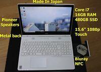 "Japan Made i7 FUJITSU Lifebook AH77/M 16GB 480GB SSD 15.6"" FHD Touch Pioneer Sp"