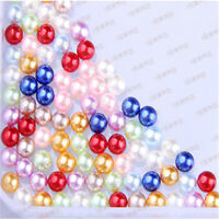 Free shipping 2mm-14mm  No Hole ABS Pearl Round Acrylic Beads 16 Color Pick