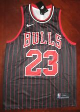 Michael Jordan Bulls Jersey,  Black with Red Stripes