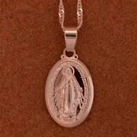 Neu Anhänger Gläubige Schmuck Religiöse Halskette Jungfrau Maria Halskette