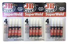 3 Pack Jb Weld Superweld Super Glue 2g Tube 4 Count Packs Worlds Strongest Bond
