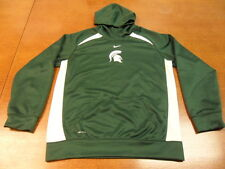 Green Michigan State Spartans Nike Dri Fit Pullover Hooded Sweatshirt Large