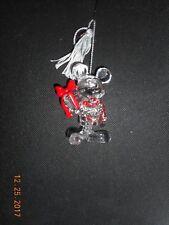 "Lenox Disney Mickey Christmas Gift Crystal ornament 3"" New In Box"