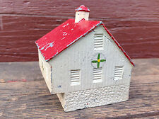 Cool Vintage Painted Metal Barn Still Bank
