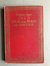 Vintage Atlas of the World and Gazetteer 1927 Literary Digest Funk & Wagnalls Co