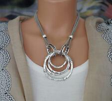Bettelkette Statement Halskette Modeschmuck Kette Silber Collier