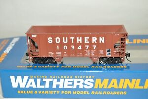 HO scale Walthers Southern Ry Greenville 34' 100t 2 bay hopper car train BROWN
