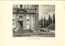 Stampa antica GROSIO Chiesa Parrocchiale Valtellina Sondrio 1934 Old print