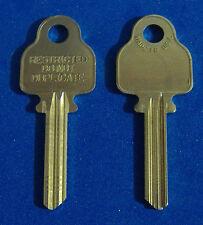 TWO KEY BLANKS FIT MEDECO LOCKS ILCO #1543 NICKEL SILVER LEVEL 2 5-PIN USA