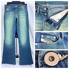 Vintage Diesel Button Fly Bell Bottom Flare Jeans Women's Stretch Pants 29x31