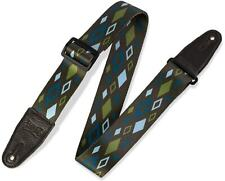 """Levy's Souldier Print Series 2"""" Wide Guitar Strap Brown Green Diamond MP2SLD-010"""