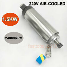 1.5KW Air Cool Spindle Motor 220V 24000rpm ER11 4bearings Engraving Woodworking