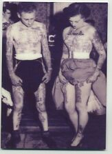 Vintage Tattoo Legs Couple -  METAL Trading Card - Inked 1940s