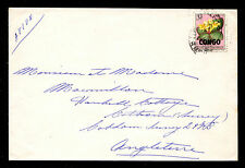 Congo Democratic Republic Airmail Cover Leopoldville to England 1960 Sc #332 3Fr