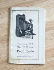 KODAK NO. 2C POCKET KODAK SPECIAL INSTRUCTION BOOK/cks/199982