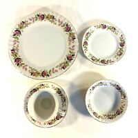 CREATIVE FINE CHINA Regency Rose Dinnerware Gold Trim Made in Japan 54 PIECES