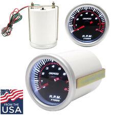 2 Inch /52mm Digital LED Tachometer Gauge Gray CNSPEED for 4 /6 /8 Cylinder Cars