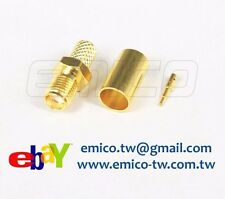 1 PCS RP SMA FEMALE CRIMP FOR H155, GOLD TEFLON (eBay-SA111-H155)