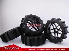 4pcs New RC 1:8 Baja Buggy Wheels & Snow / Sand  Paddle Tires Set for HPI