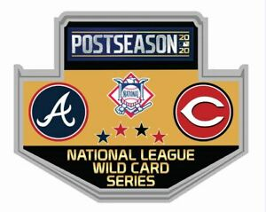 2020 WILD CARD DUELING PIN ATLANTA BRAVES VS. CINCINNATI REDS MLB WORLD SERIES