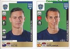 674-675 ANDREW MILNE ANGEL BERLANGA AUCKLAND CITY FC FIFA 365 PANINI