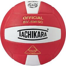 Tachikara Sensi-Tec Composite SV-5WSC Volleyball - NEW - Scarlet / White