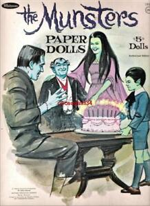 VINTAGE UNCUT 1966 THE MUNSTERS PAPER DOLLS~#1 REPRODUCTION~NOSTALGIC AND RARE!