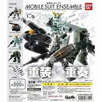 Bandai Mobile Suit Gundam MOBILE SUIT ENSEMBLE 1.5 Gashapon 5 set mini figure