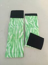 2-MALE DOG BELLY BANDS NO INSERTS LEAK PROOF ZEBRA GREEN/GREEN JUST WASH & WEAR