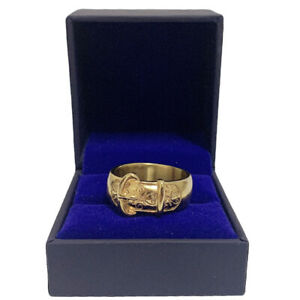 BUCKLE 18K Gold Plated Ring- Handmade All Sizes Available