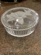 Teleflora Frosted Rose Trinket Covered Dish